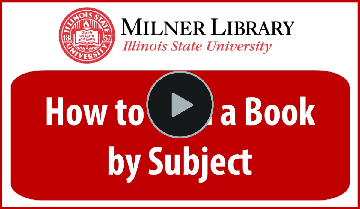 Find a Book by Subject Thumbnail