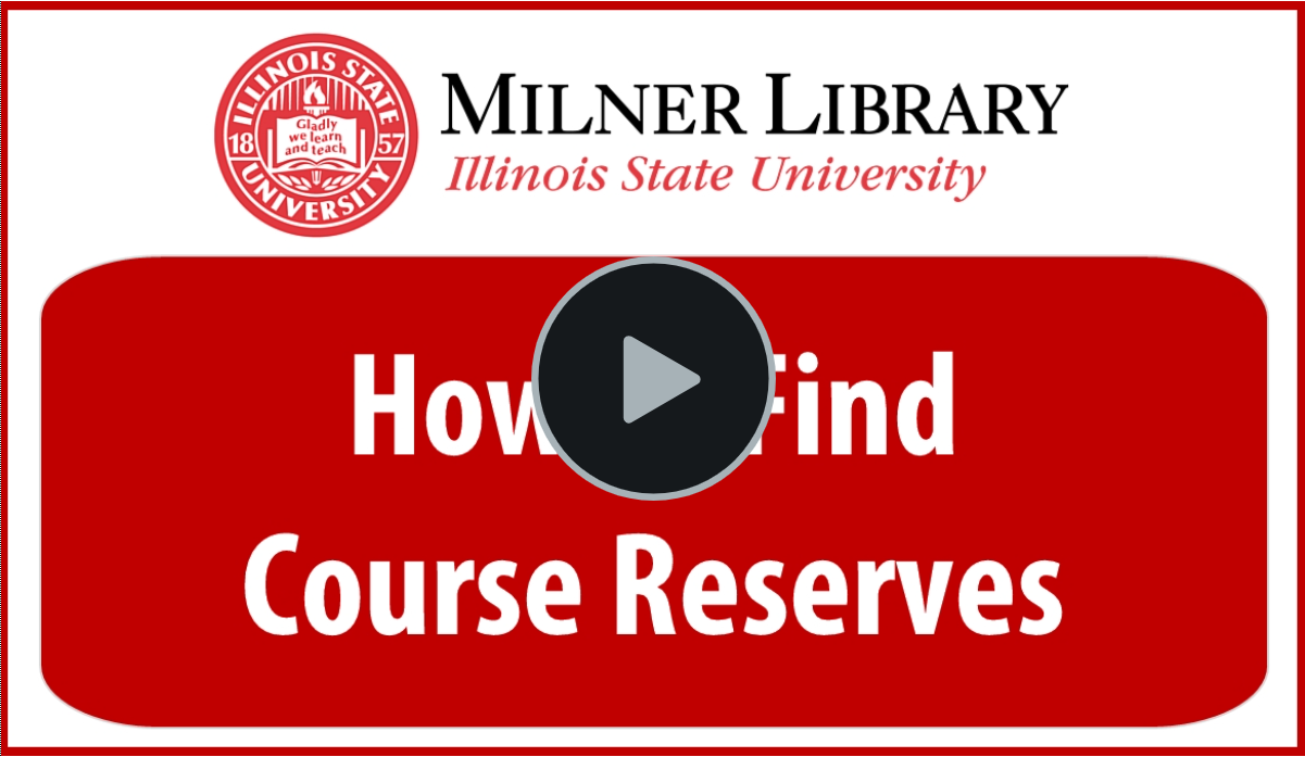Find Course Reserves Thumbnail