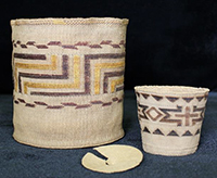Two Alaska Native baskets.