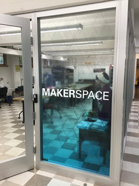 The Makerspace in the lower level of Collins Library