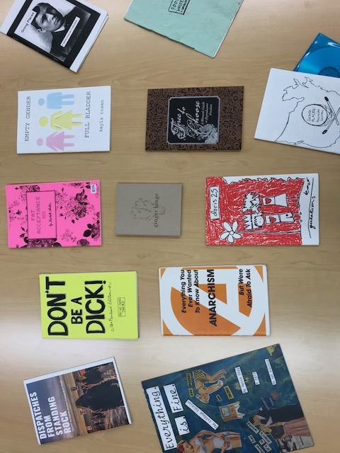 Examples from the Collins Library Zine Collection