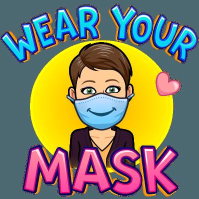 wear your mask bitmoji