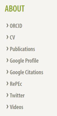 Screenshot of a set of author profile links on a staff profile.