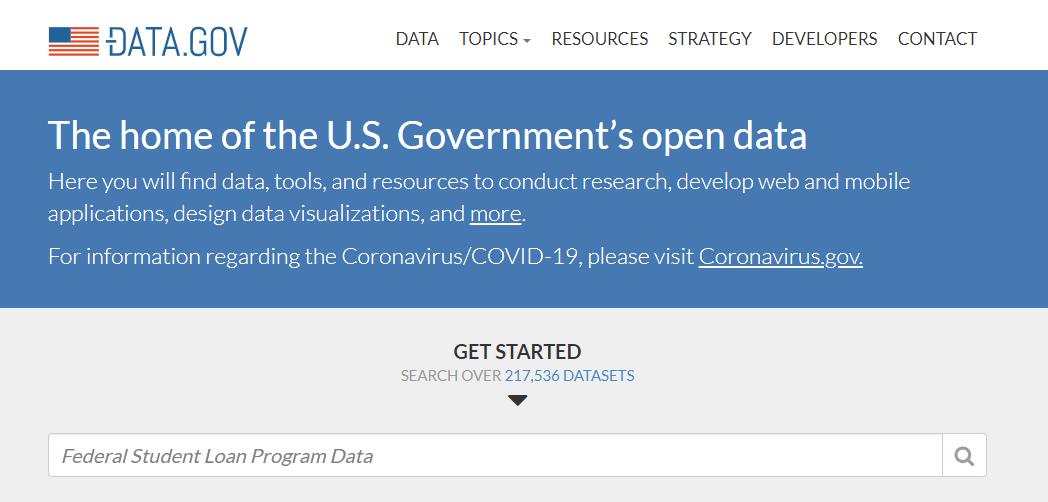 Data.gov home page