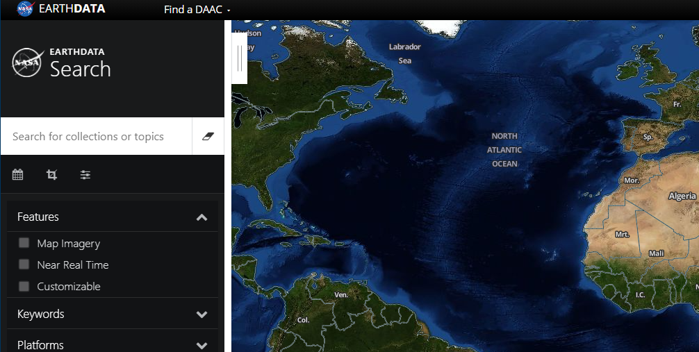 Earth data home page