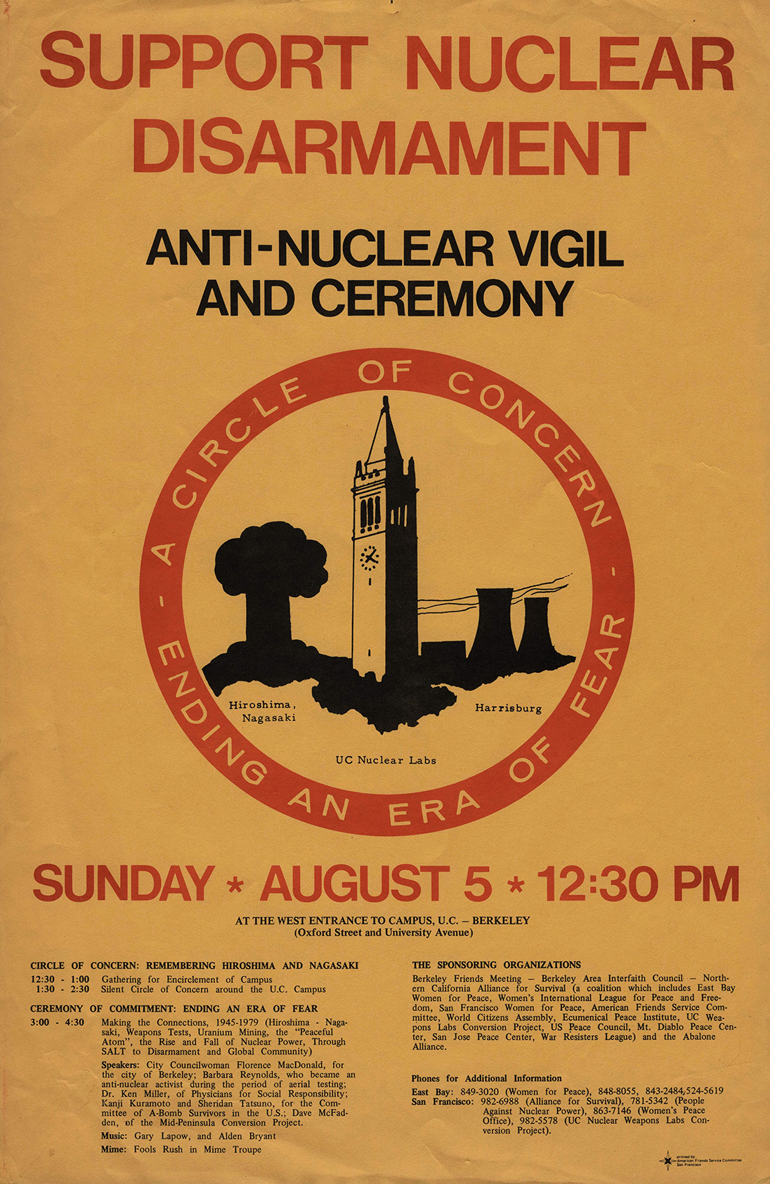Support Nuclear Disarmament Poster