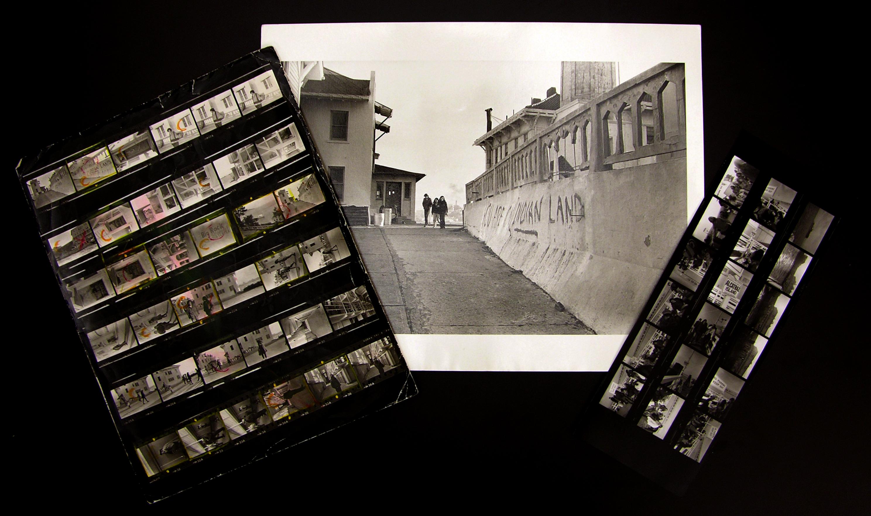 Contact sheets of Alcatraz occupation