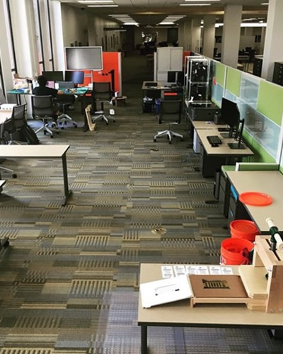 Maker Studio seats and equipment