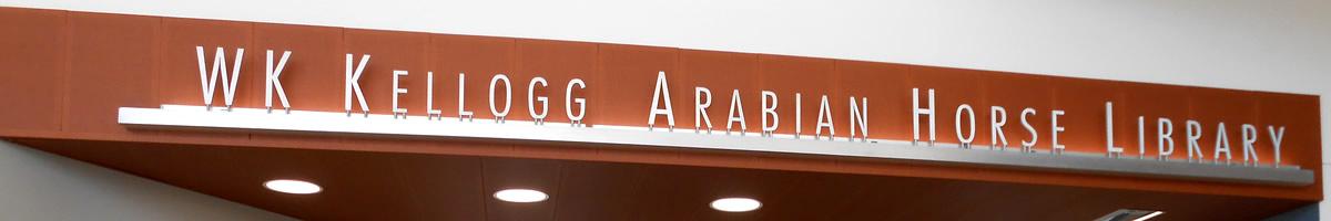 wk kellogg arabian horse library