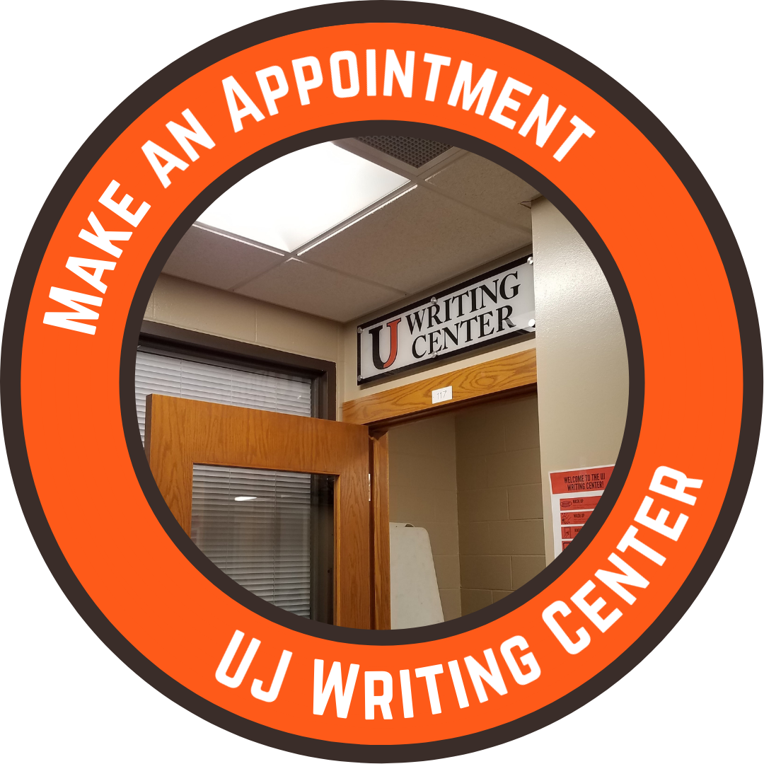 Make an appointment at the UJ Writing Center