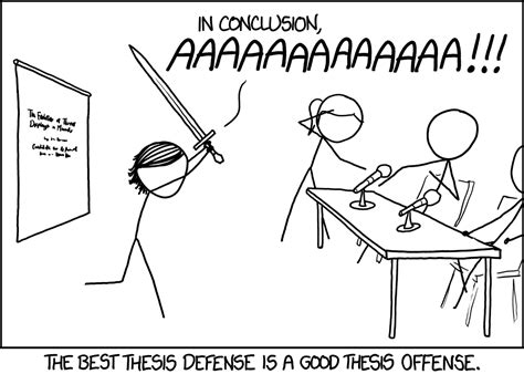 The best thesis defense is a good thesis offense