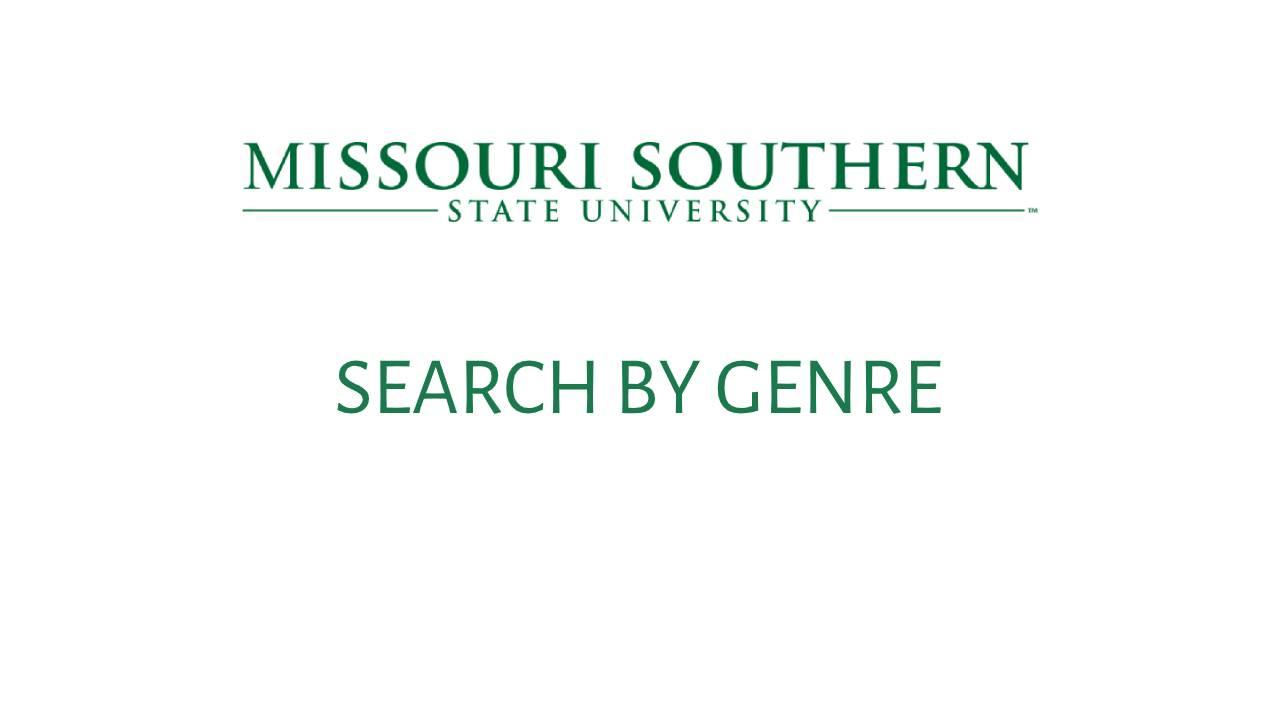 Genre Search