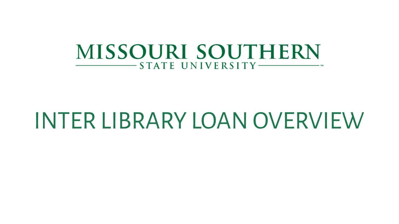 Interlibrary Loan Guide