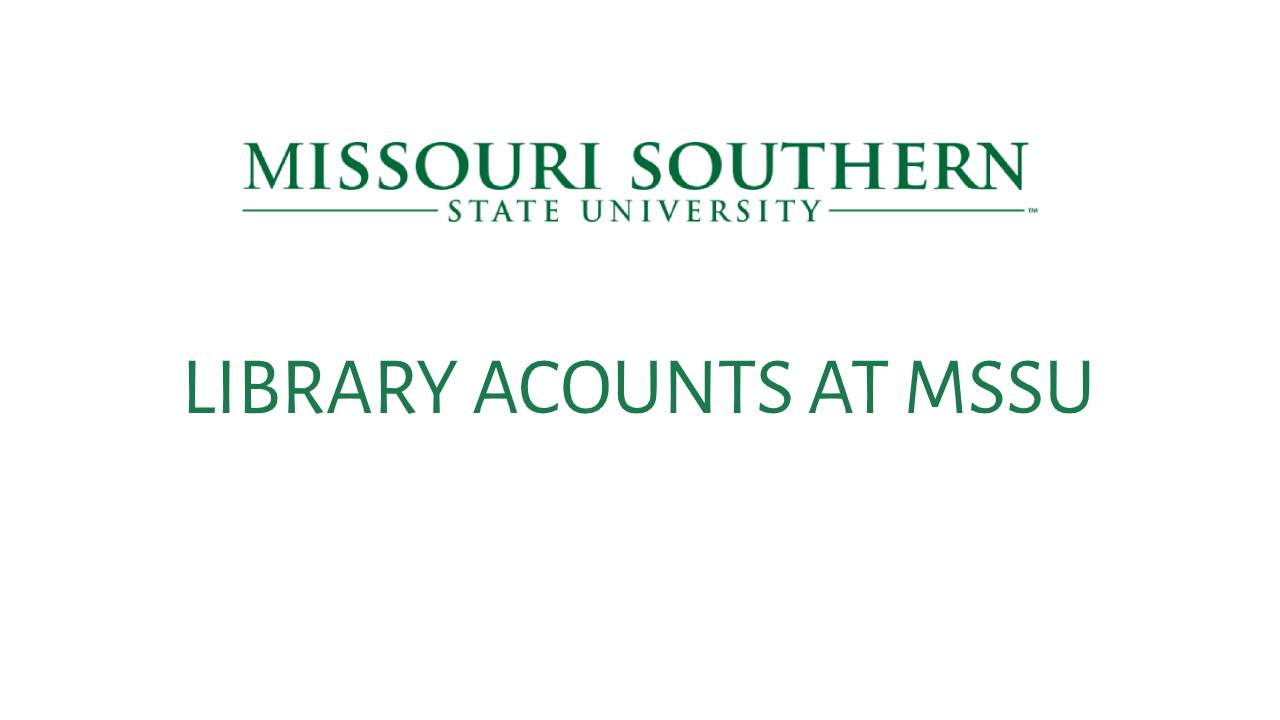 Library Accounts