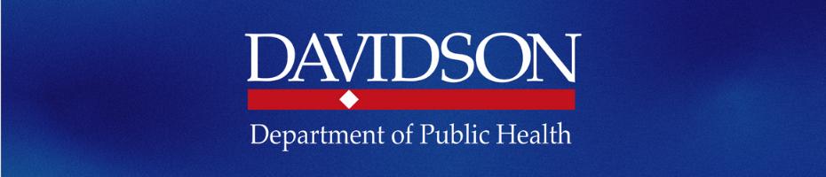 Davidson Department of Public Health banner