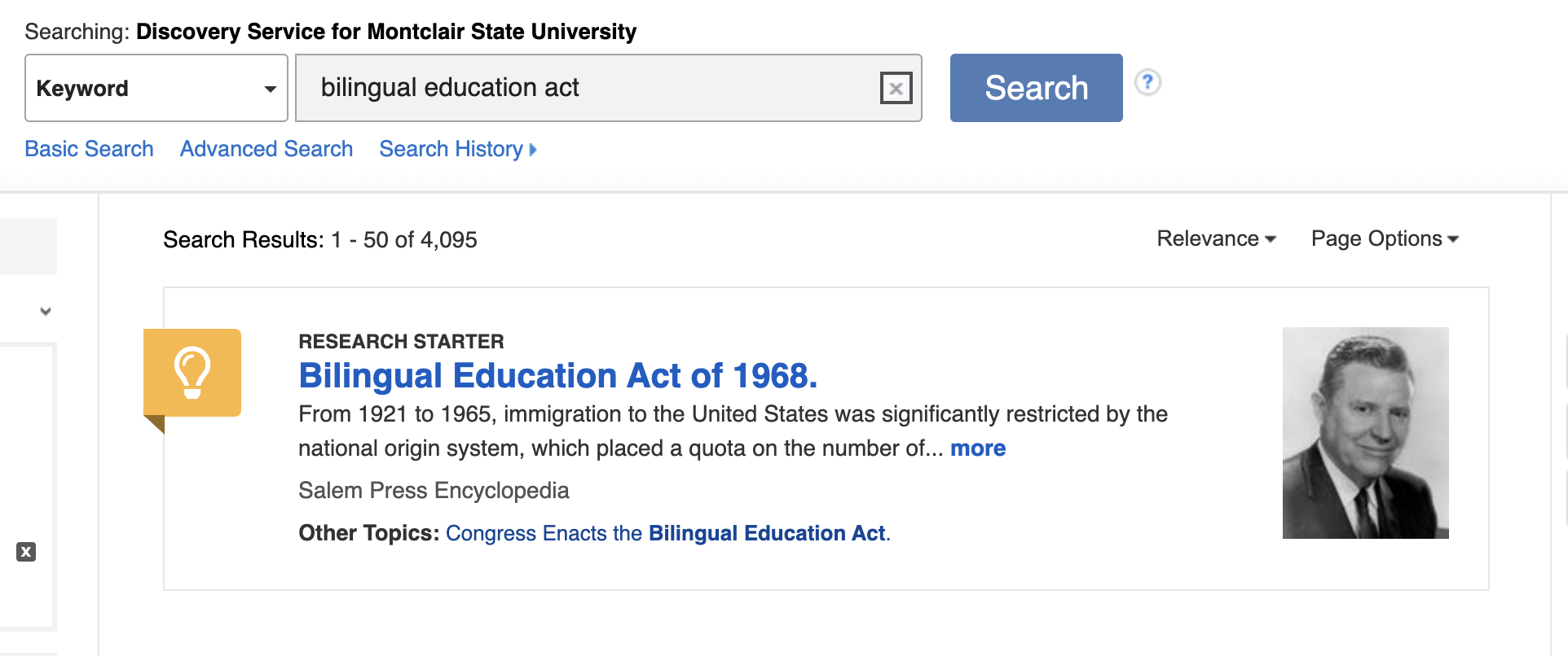 Research Starter for the Bilingual Education Act