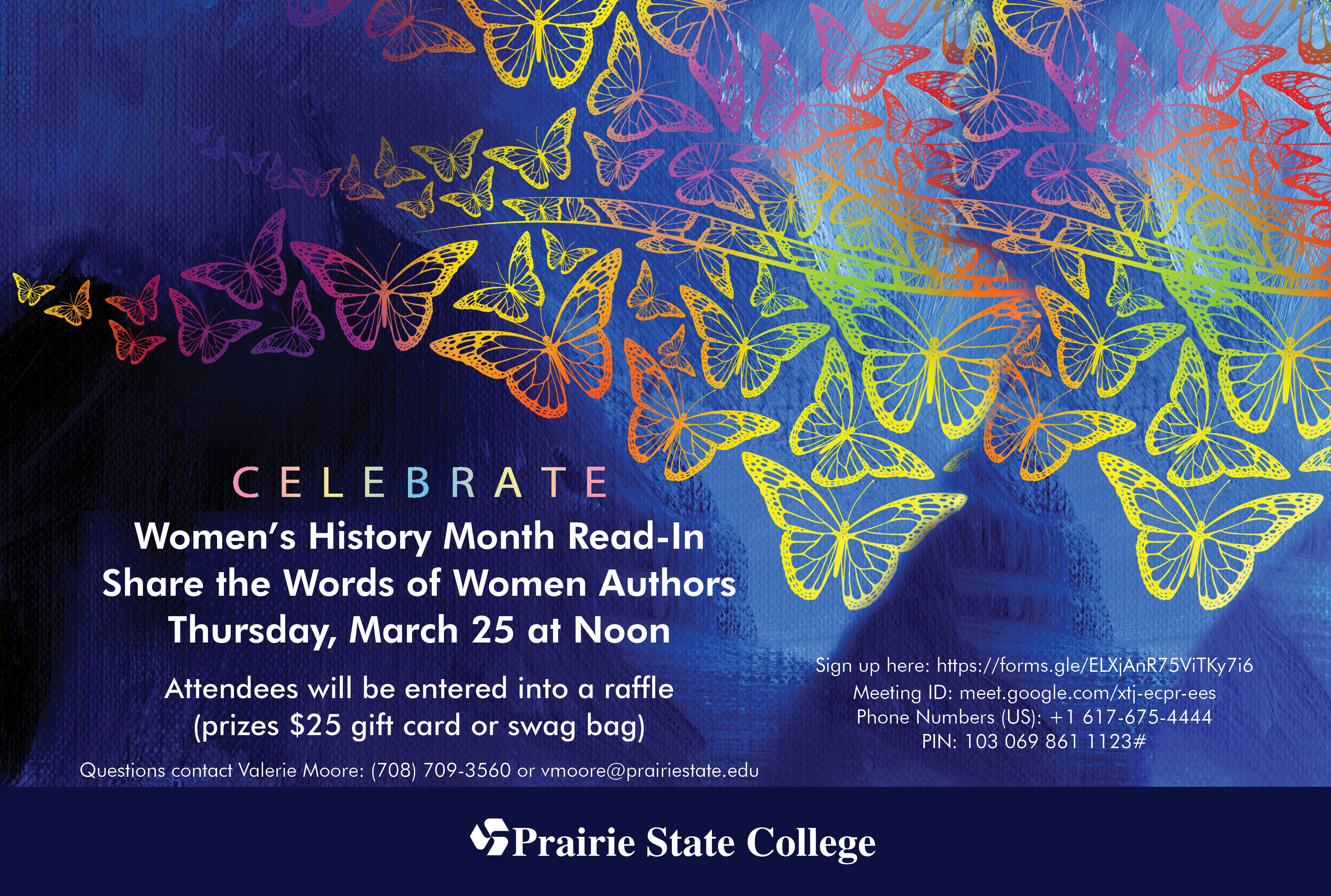 This is a flyer advertising our 2021 Women's History Month Read-In