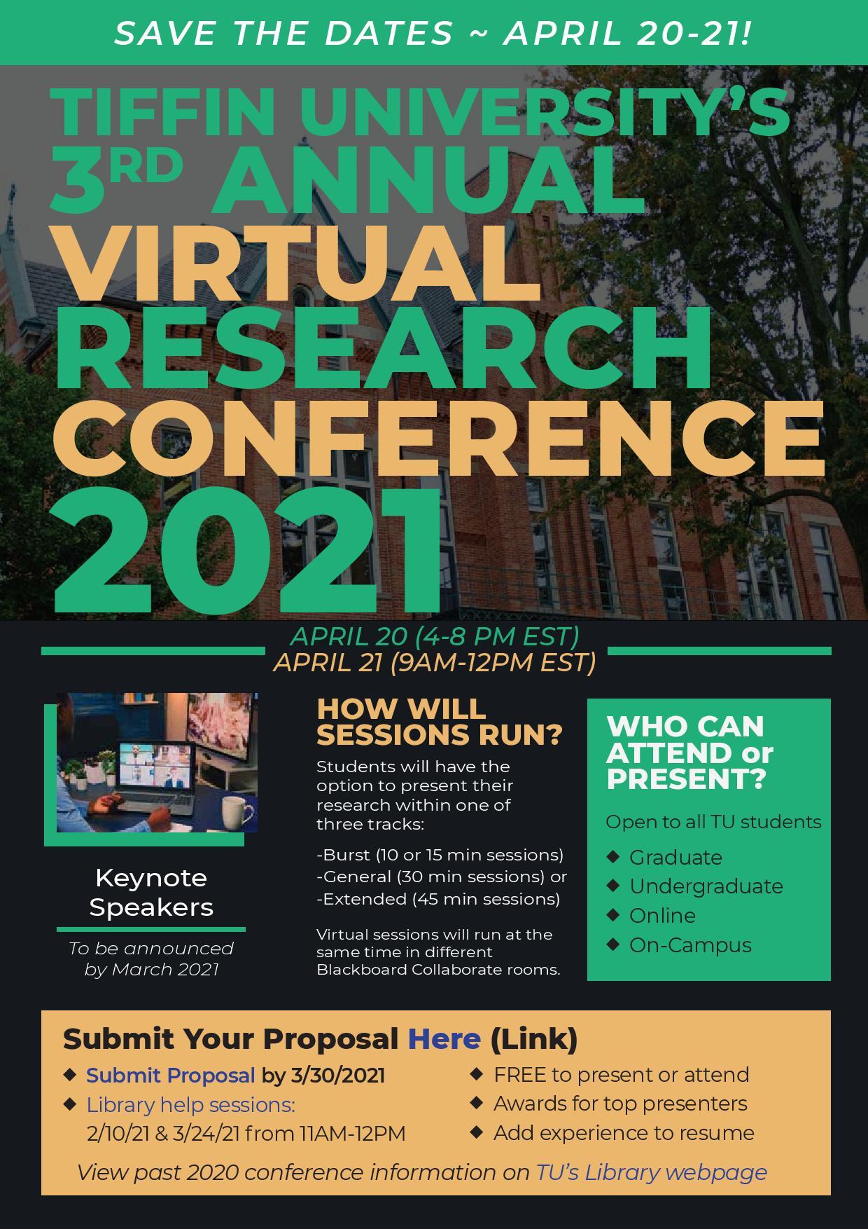 TU virtual 2021 conference flyer