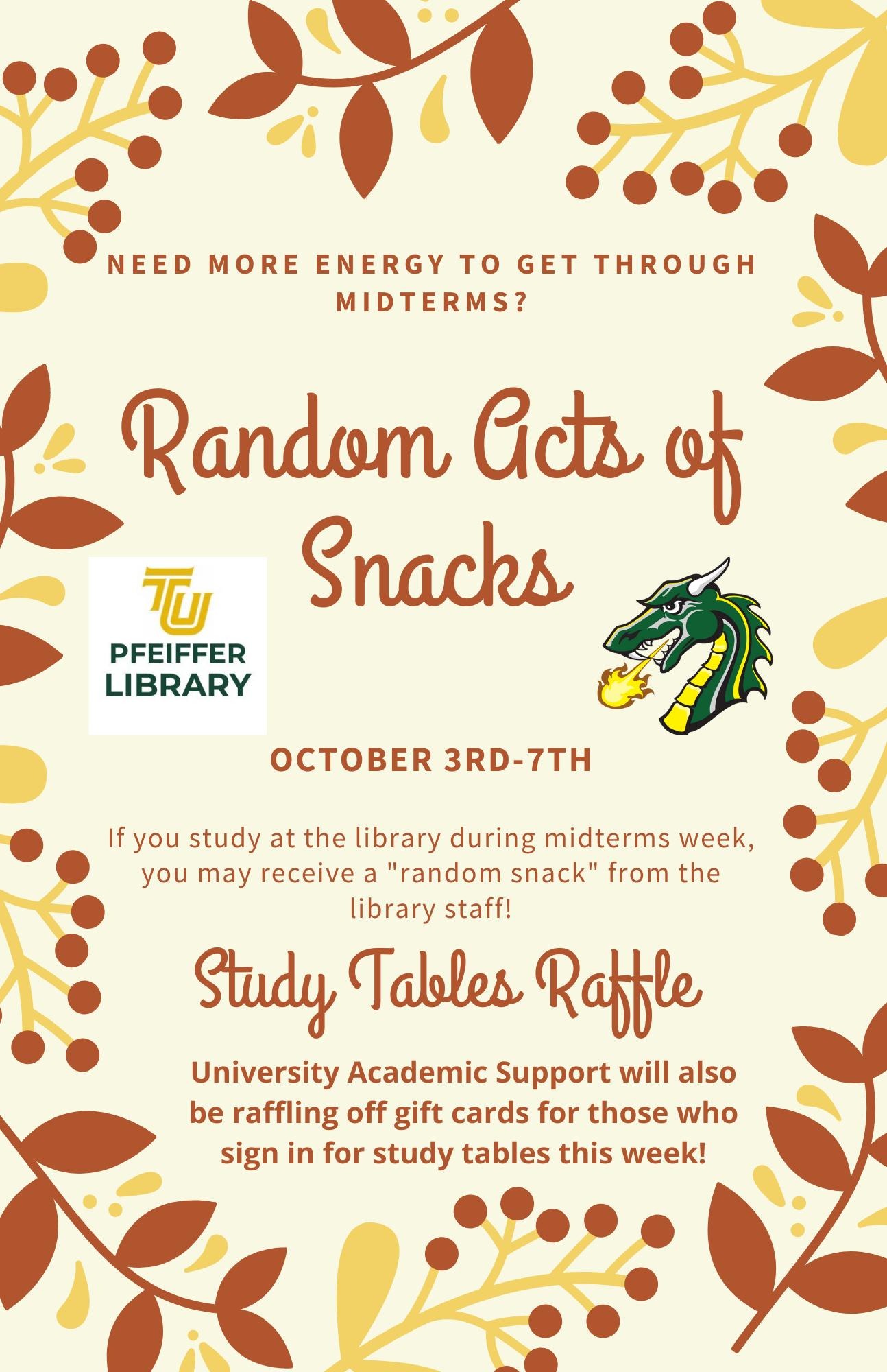 random acts of snacks flyer