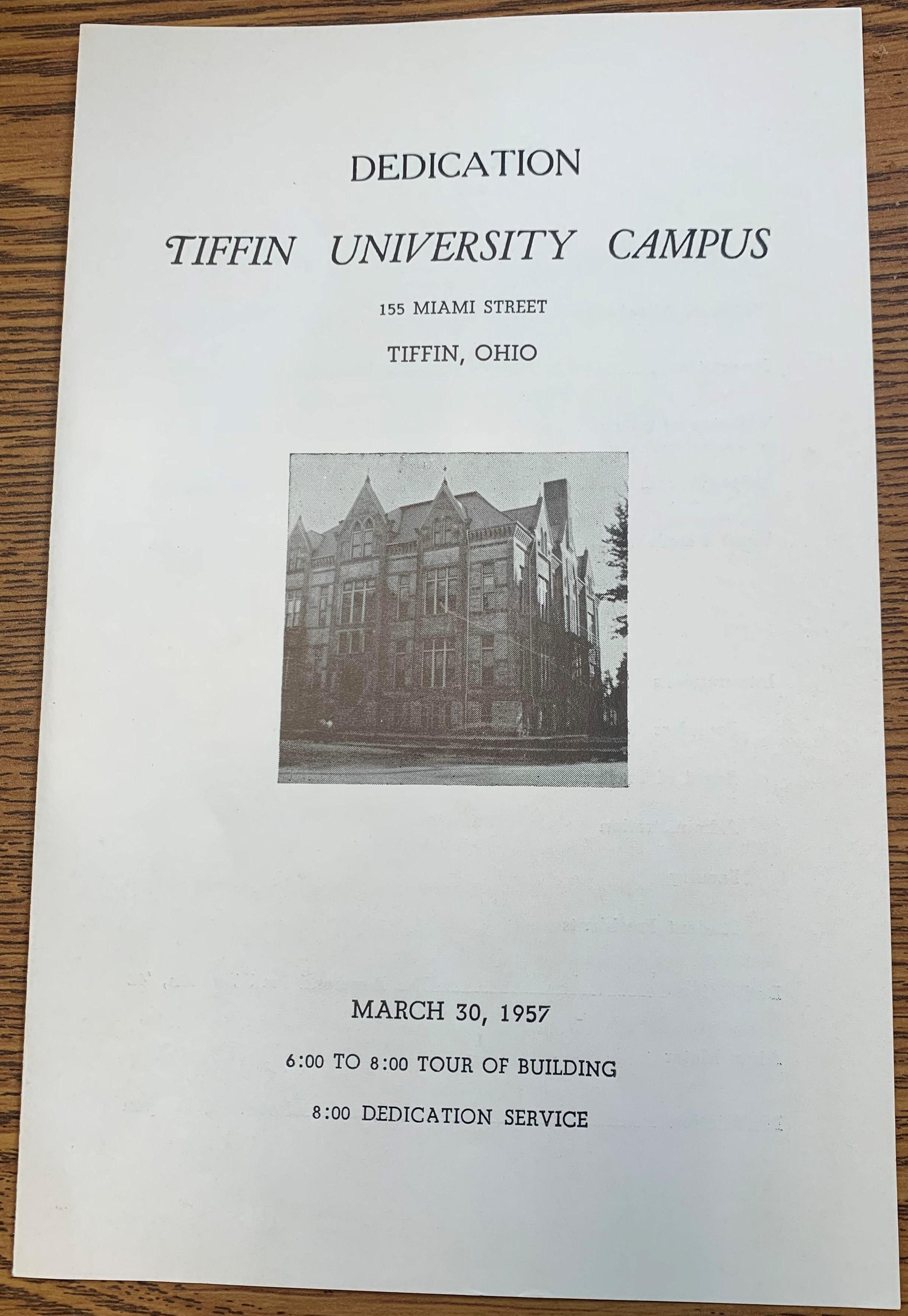 campus dedication program
