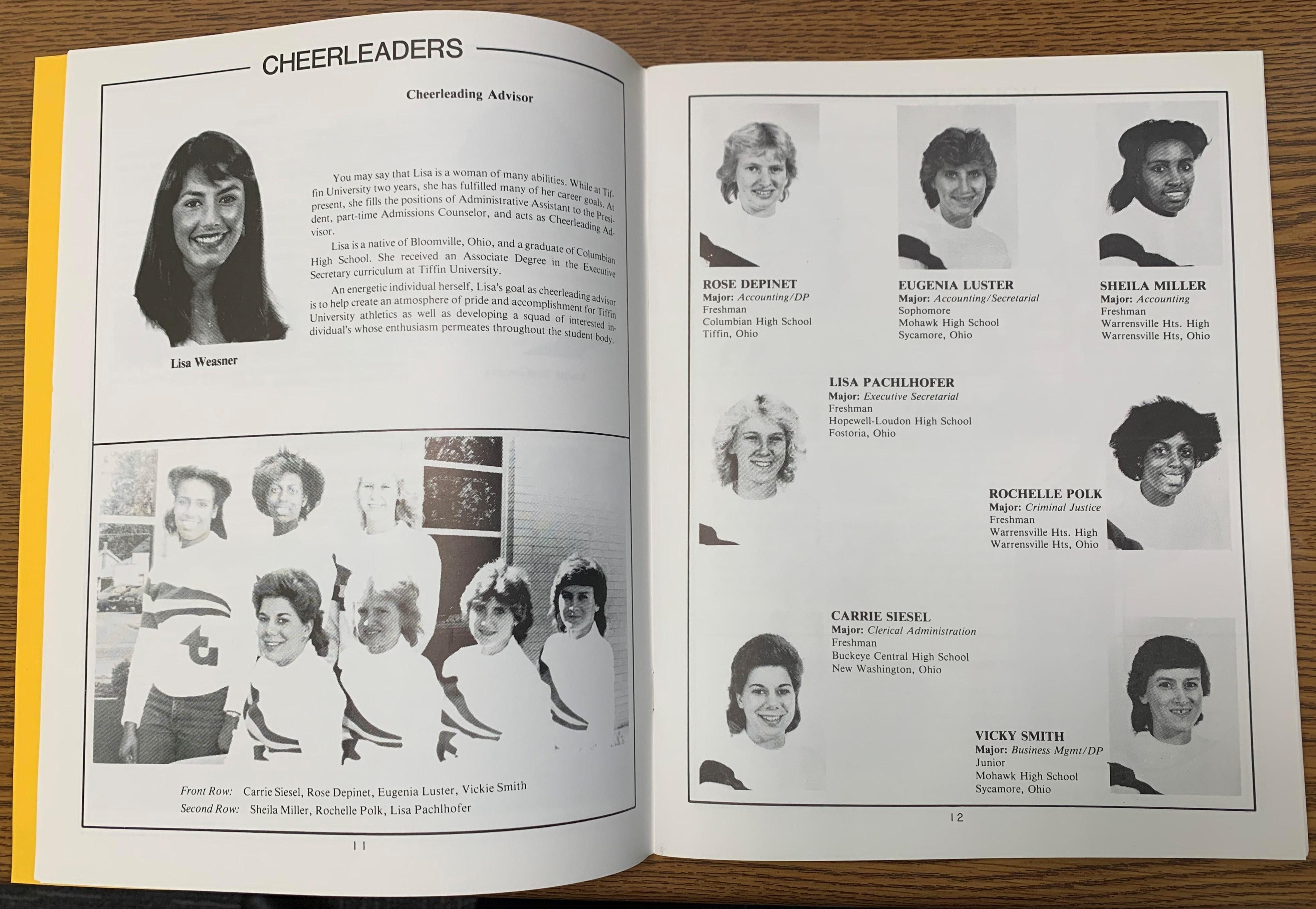 cheerleaders page