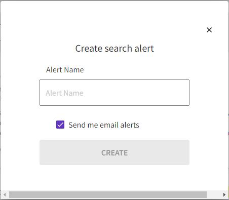 wos create alert window