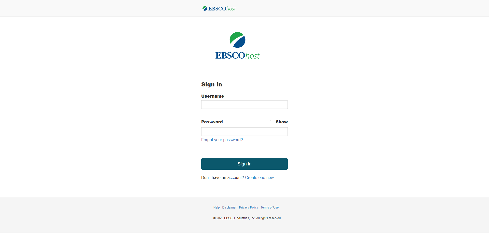 my ebsco sign in page