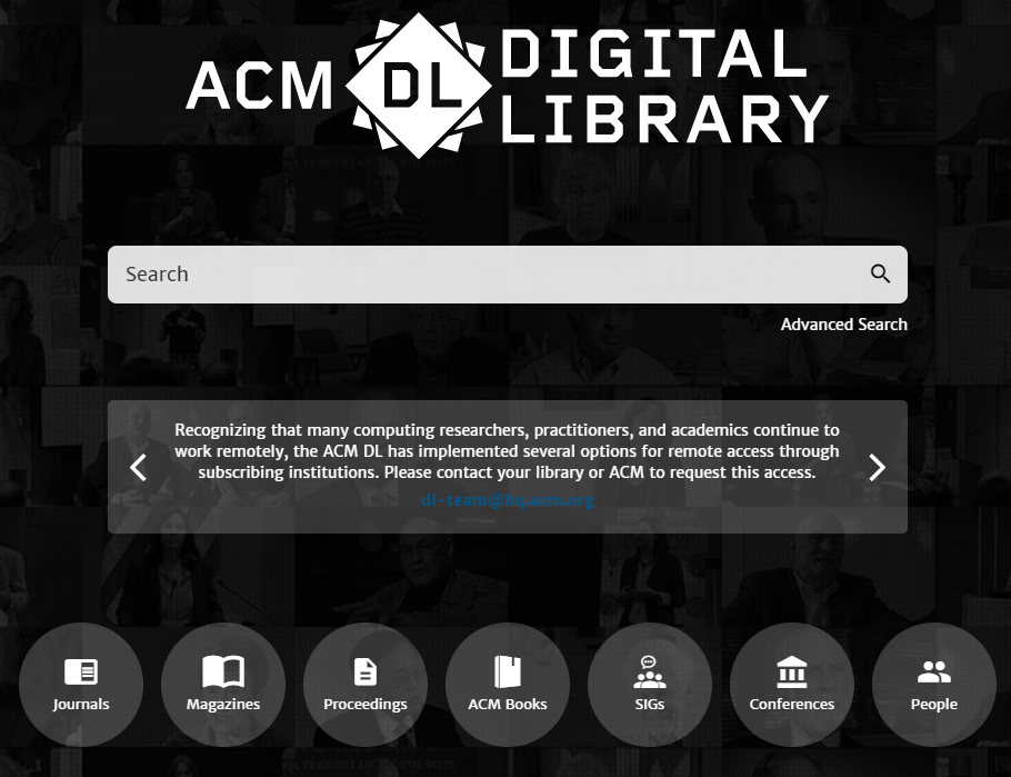 acm home page