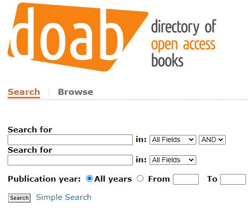 doab advanced search page
