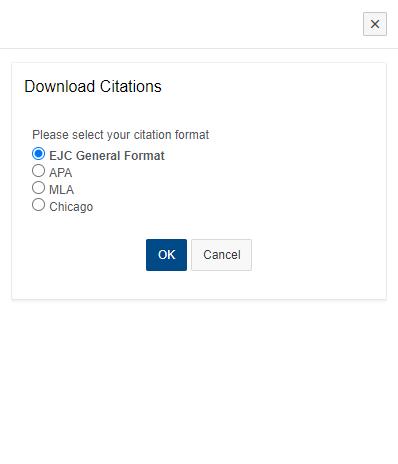 citation download window