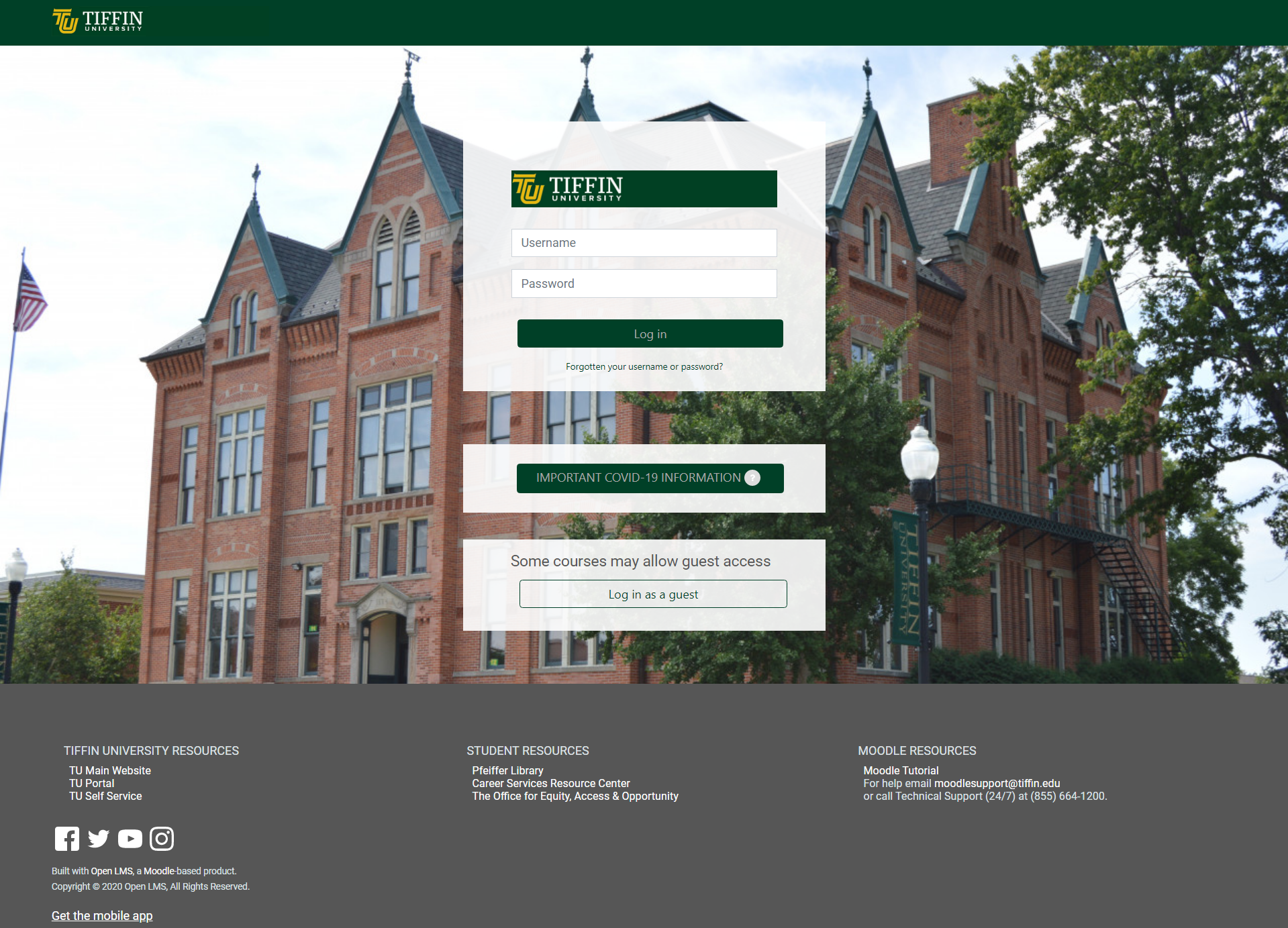 my classes login page