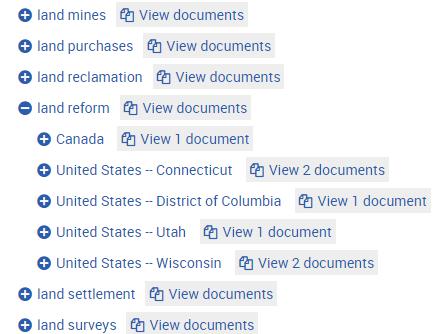 organization of works list