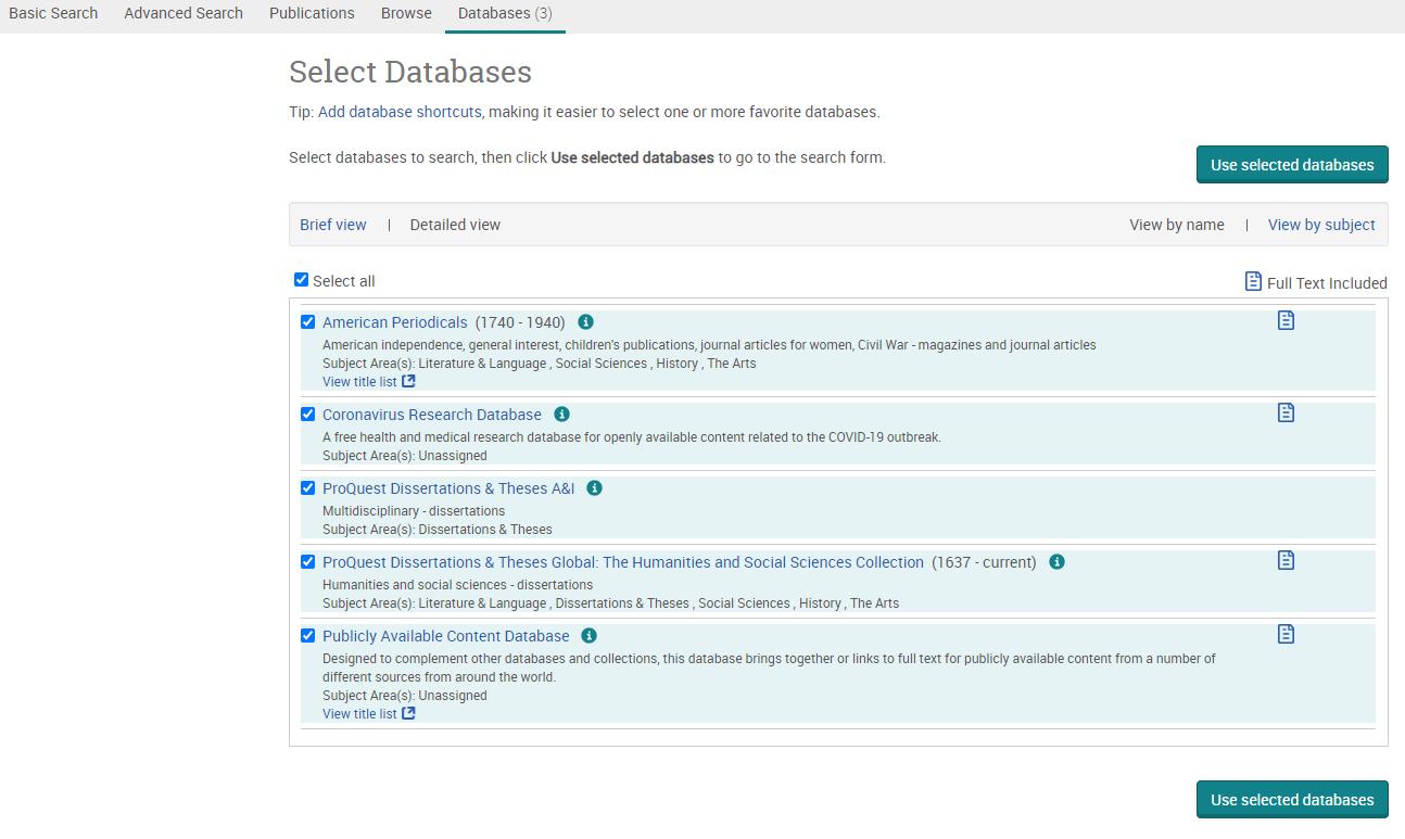 pq databases tab