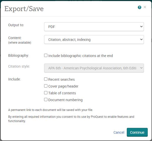 export save window