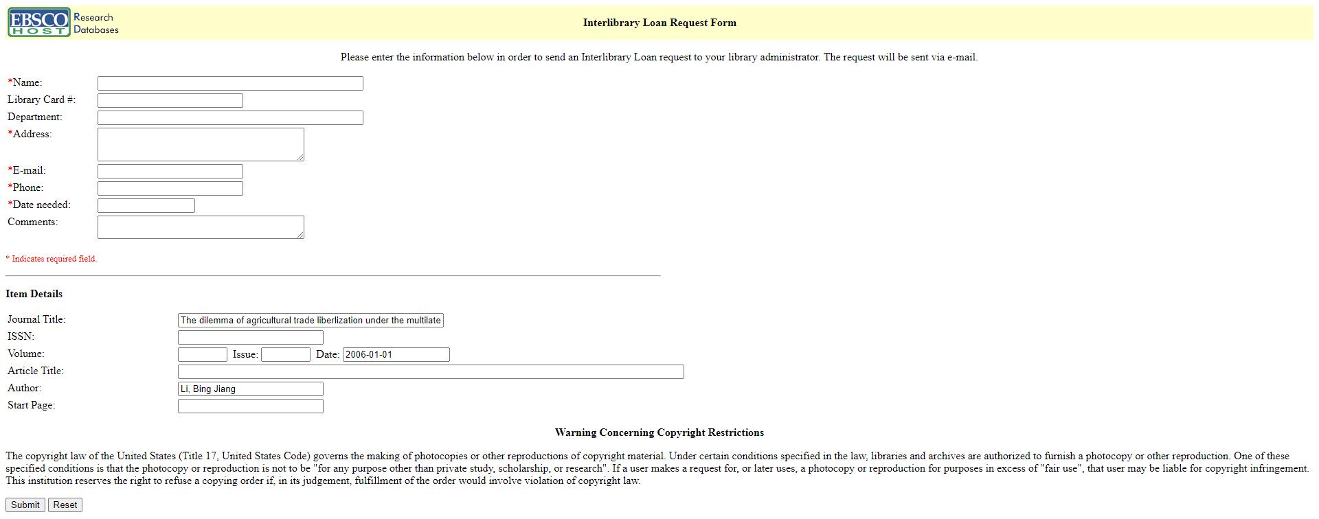 interlibrary loan online form