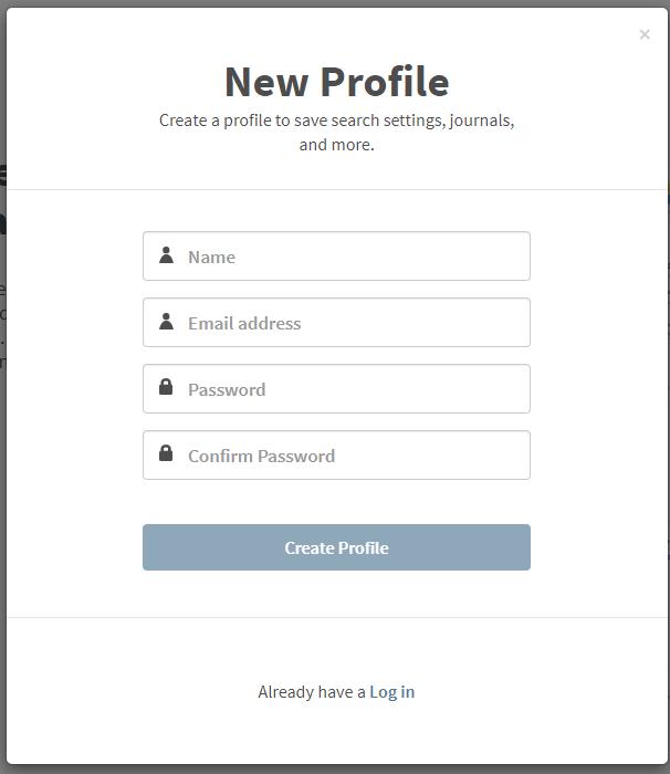 new profile window
