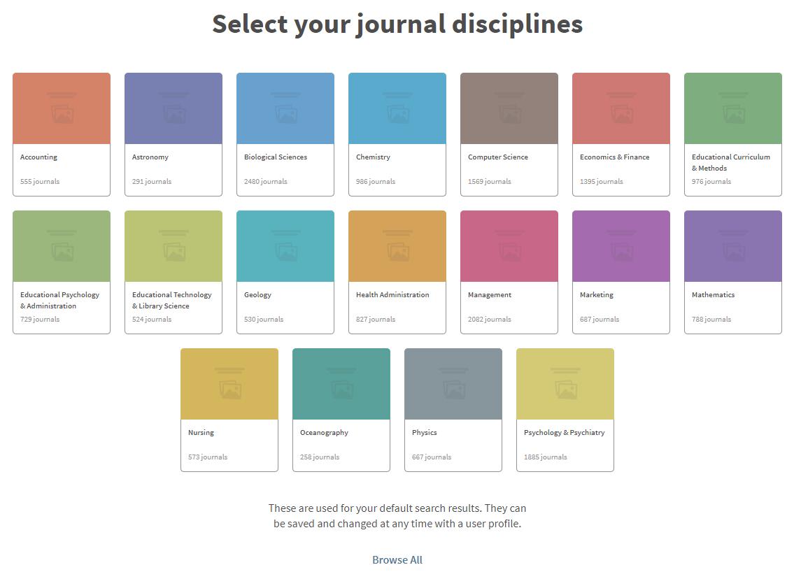 select journal discipline