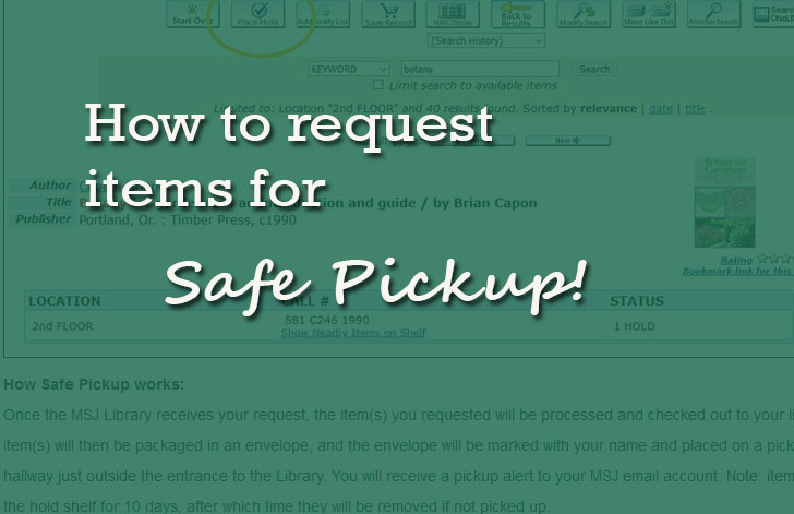 How to request items for safe pickup