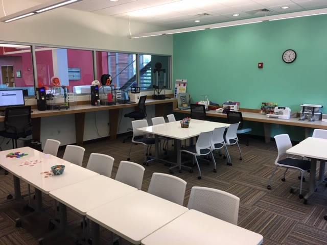 Photo of the Wolak Library Learning commons Makerspace