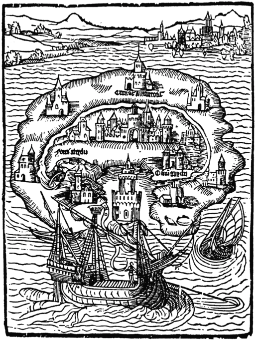 engraving from Utopia by Thomas More