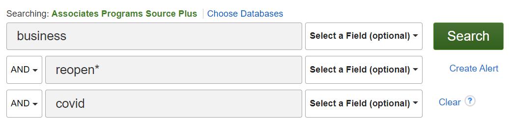Associate Programs Source Plus search example