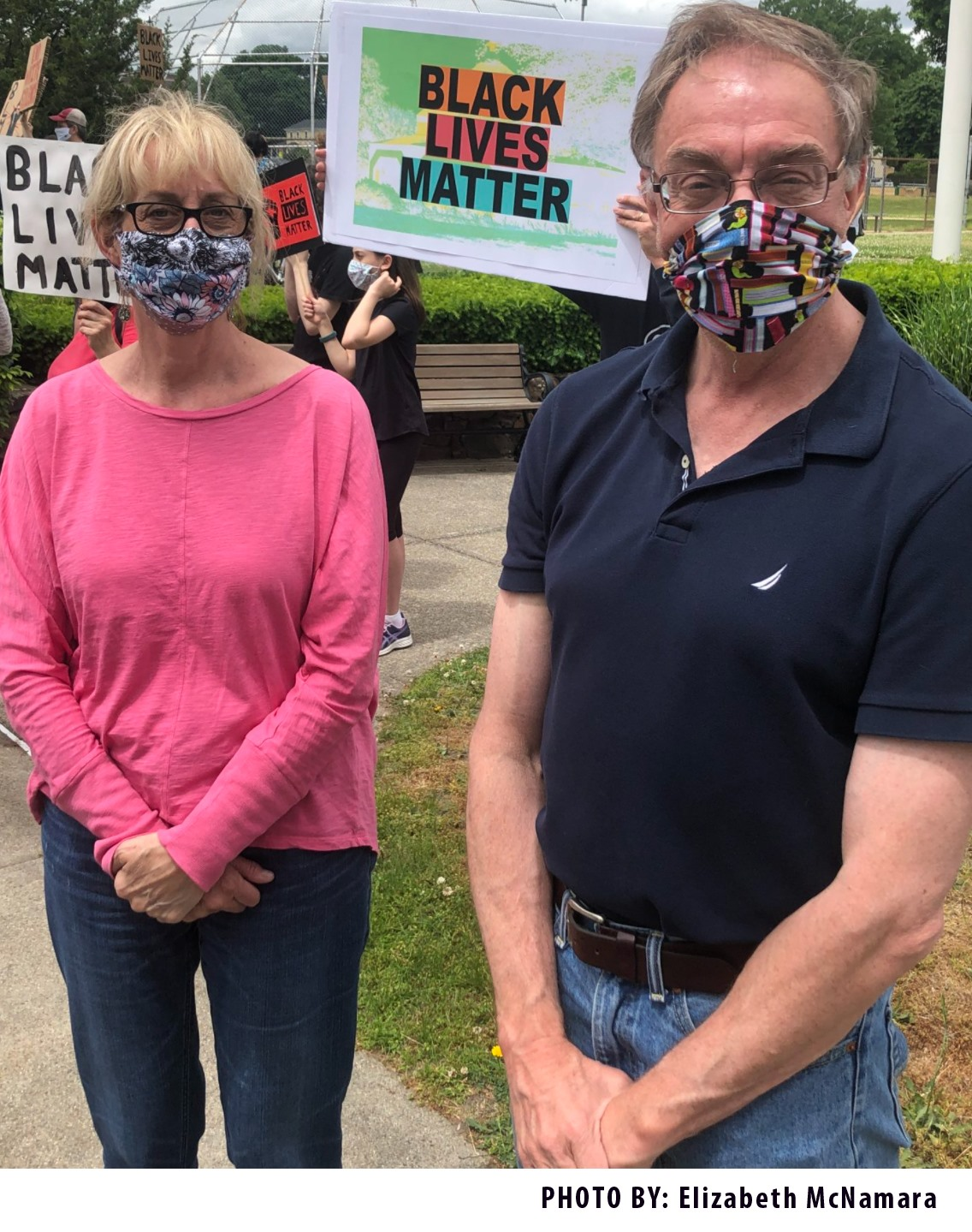 EG Black Lives Matter Rally, Elaine and Bob Houghtaling