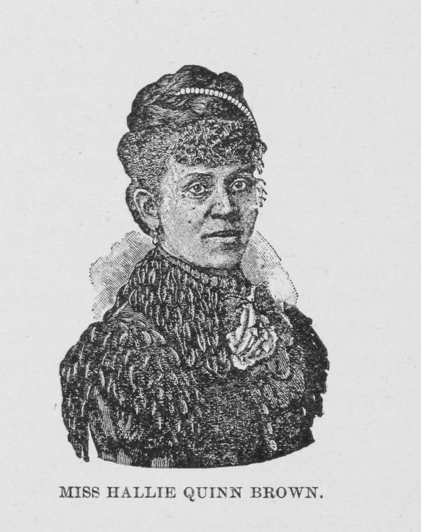 Image of Miss Hallie Quinn Brown. Elocutionist. Date Issued 1893.