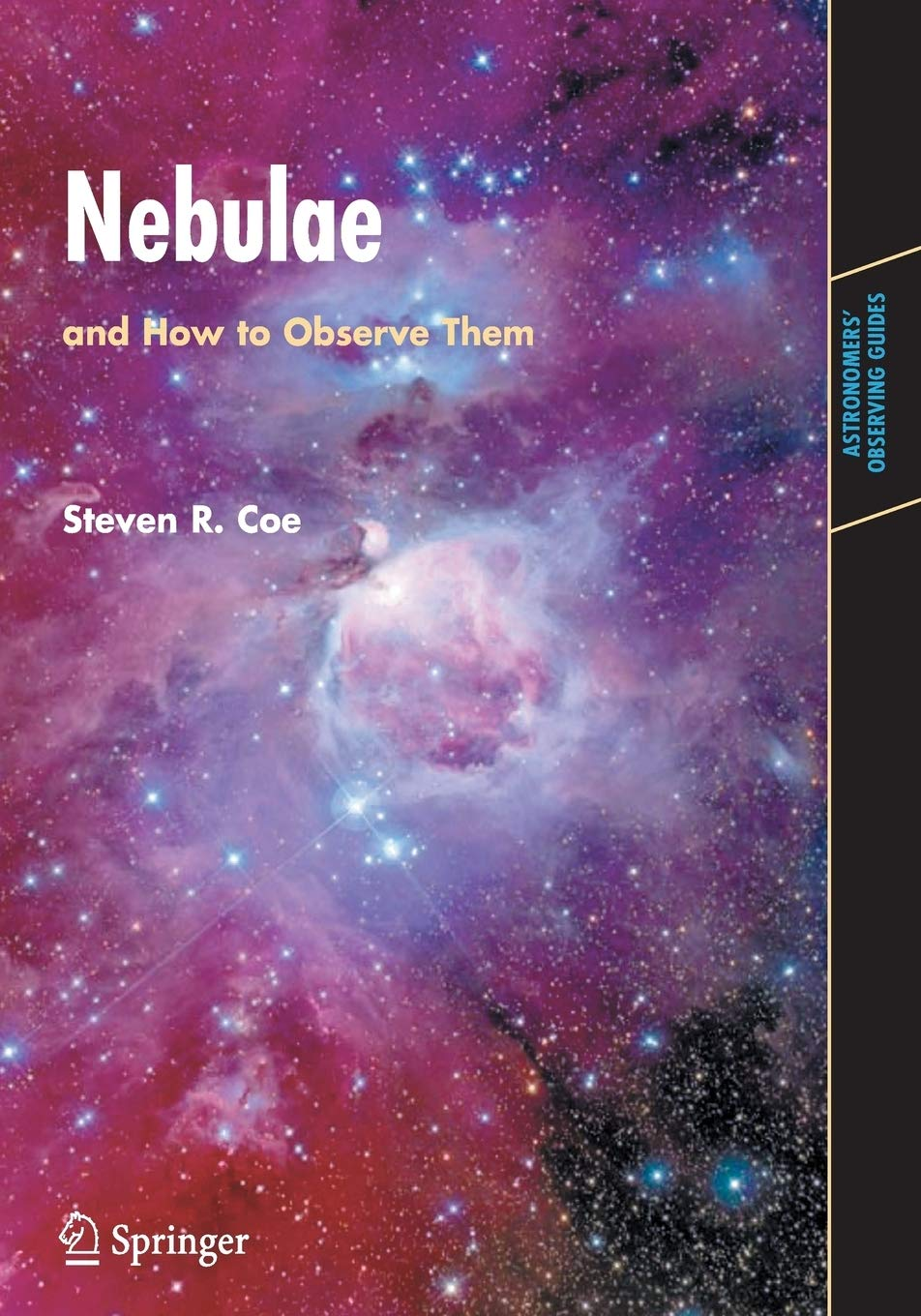 book cover for nebulae and how to observe them by steven r coe