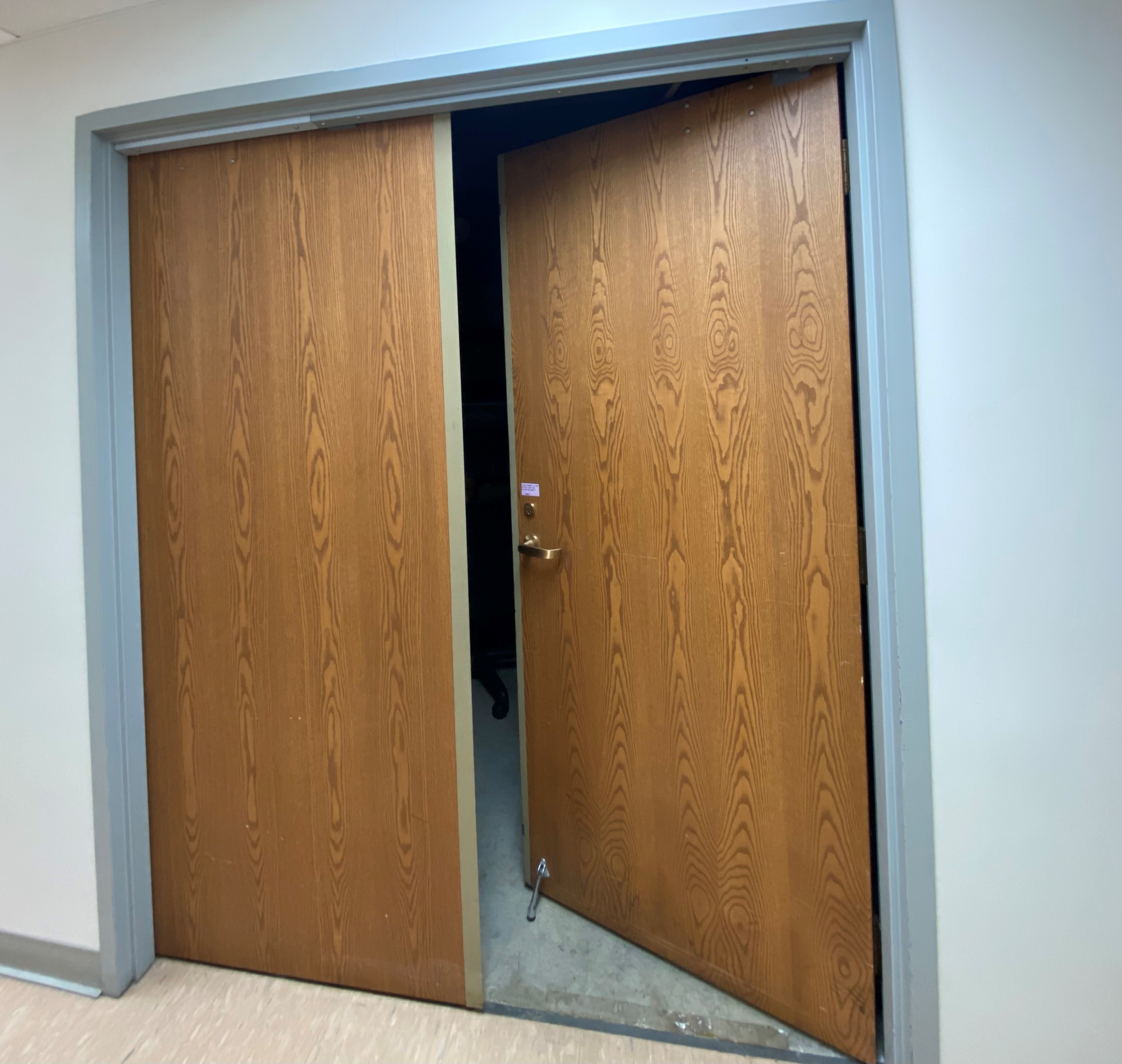 photo of doors to the archives