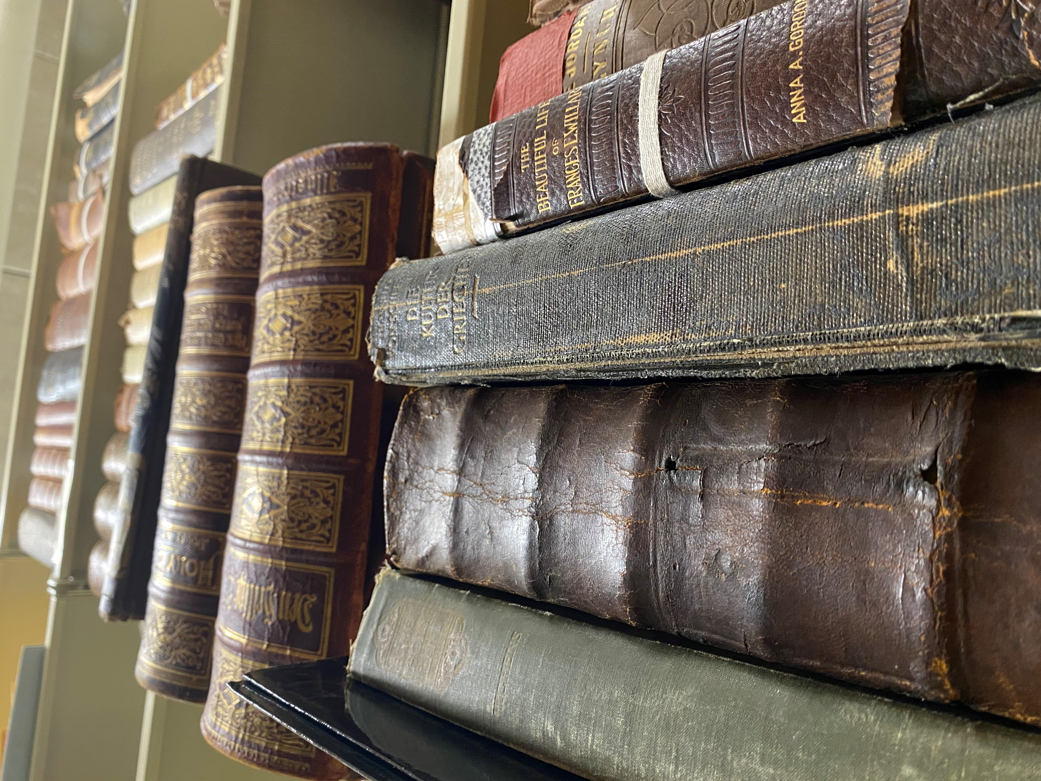 Rare books stored in the archives