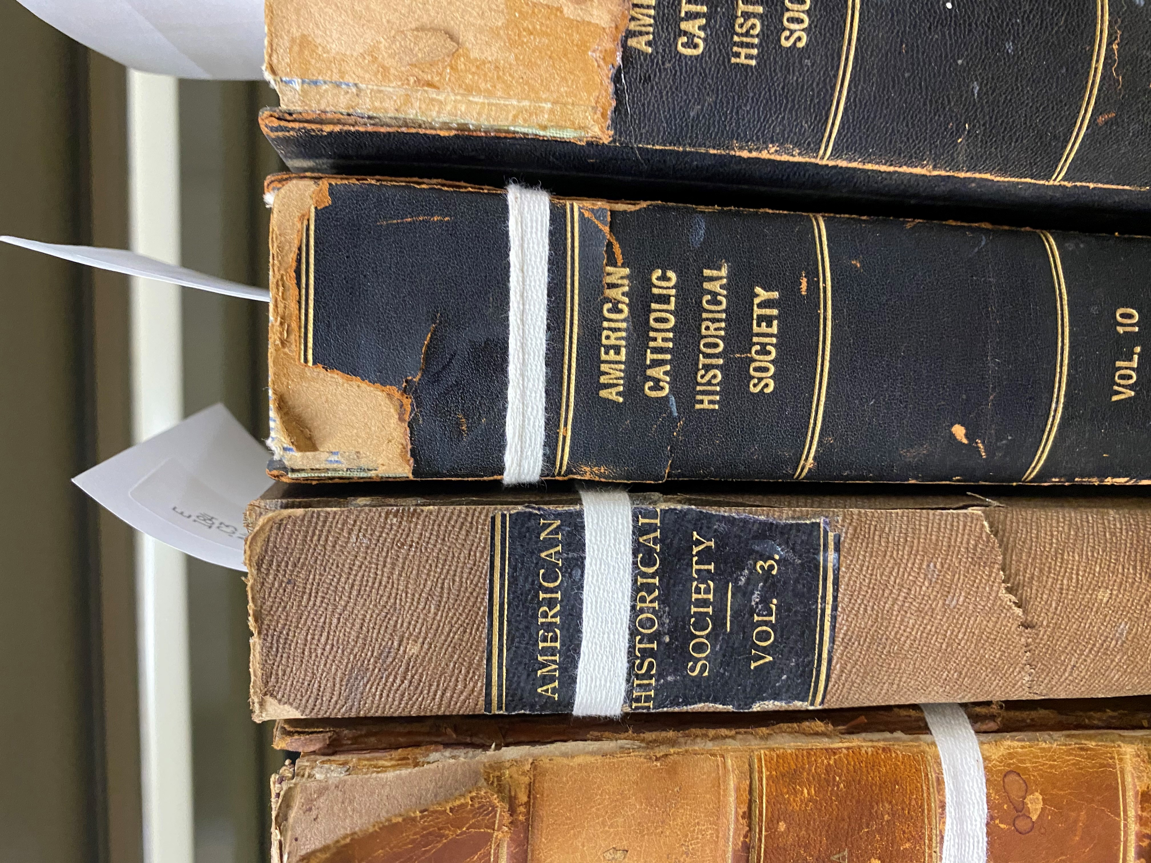 Rare books shelved in the archives