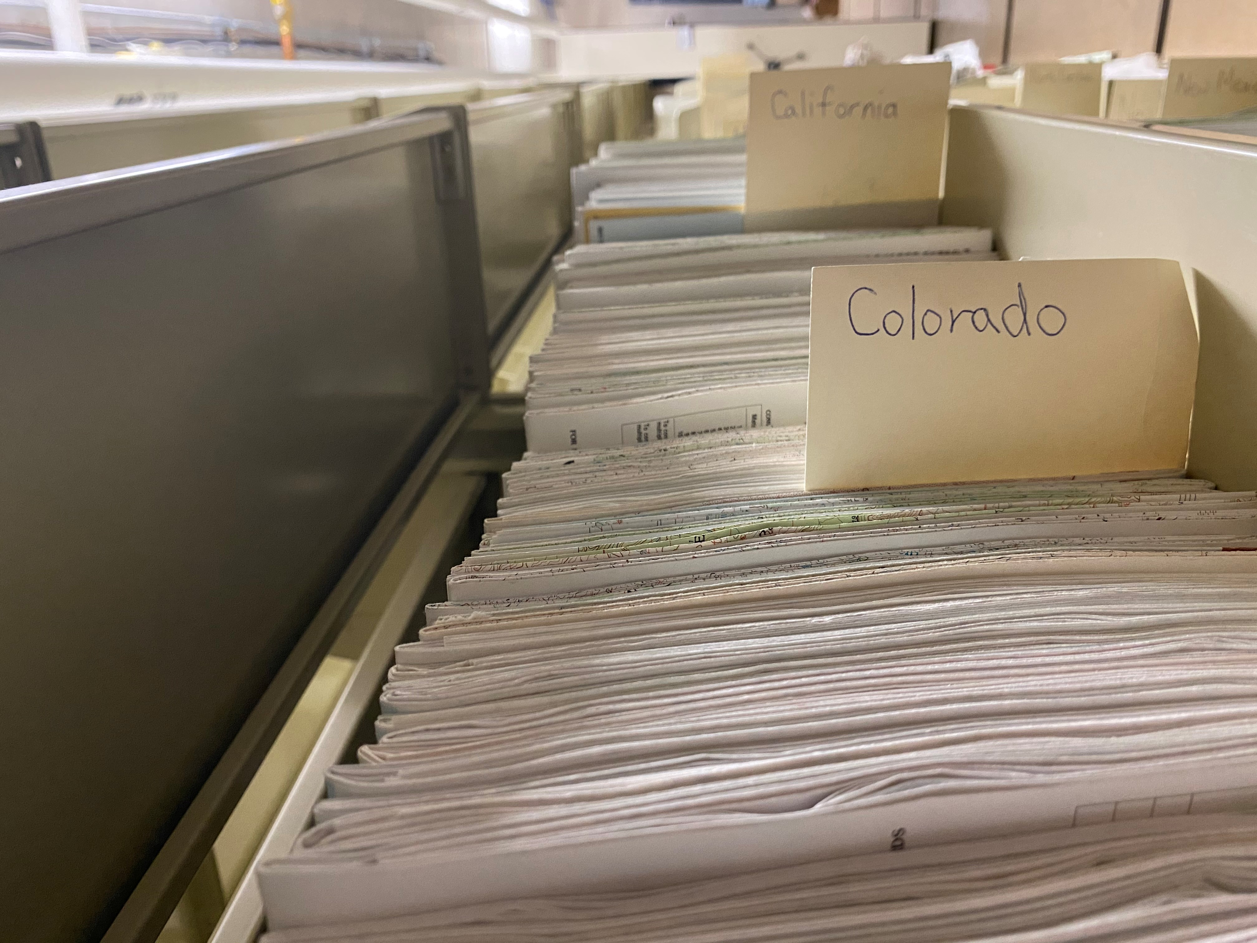 Maps stored in archives