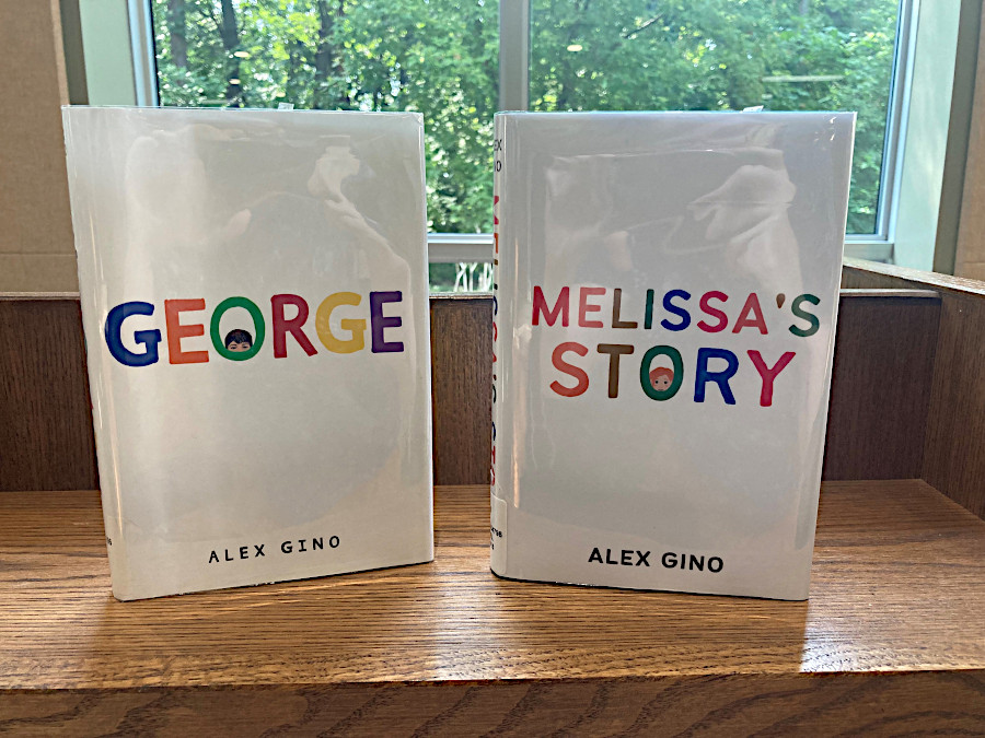 the old book jacket for Melissa's Story, and the new book jacket, side by side
