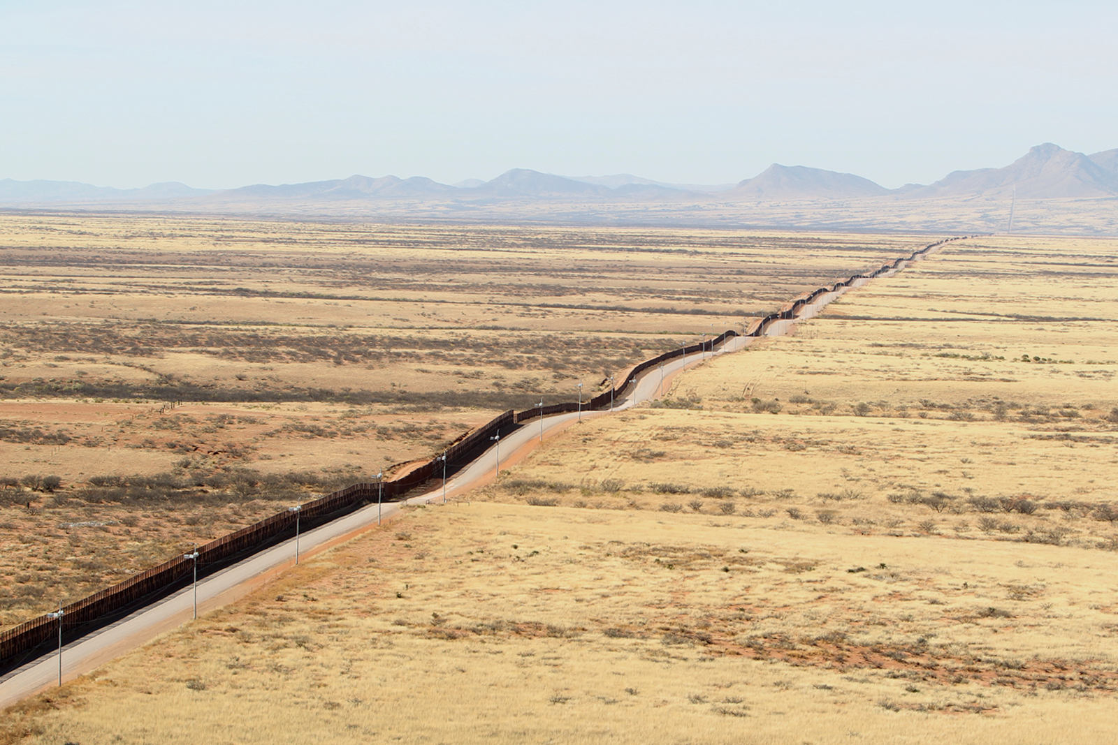 Southwest Border Arizona Fence Line